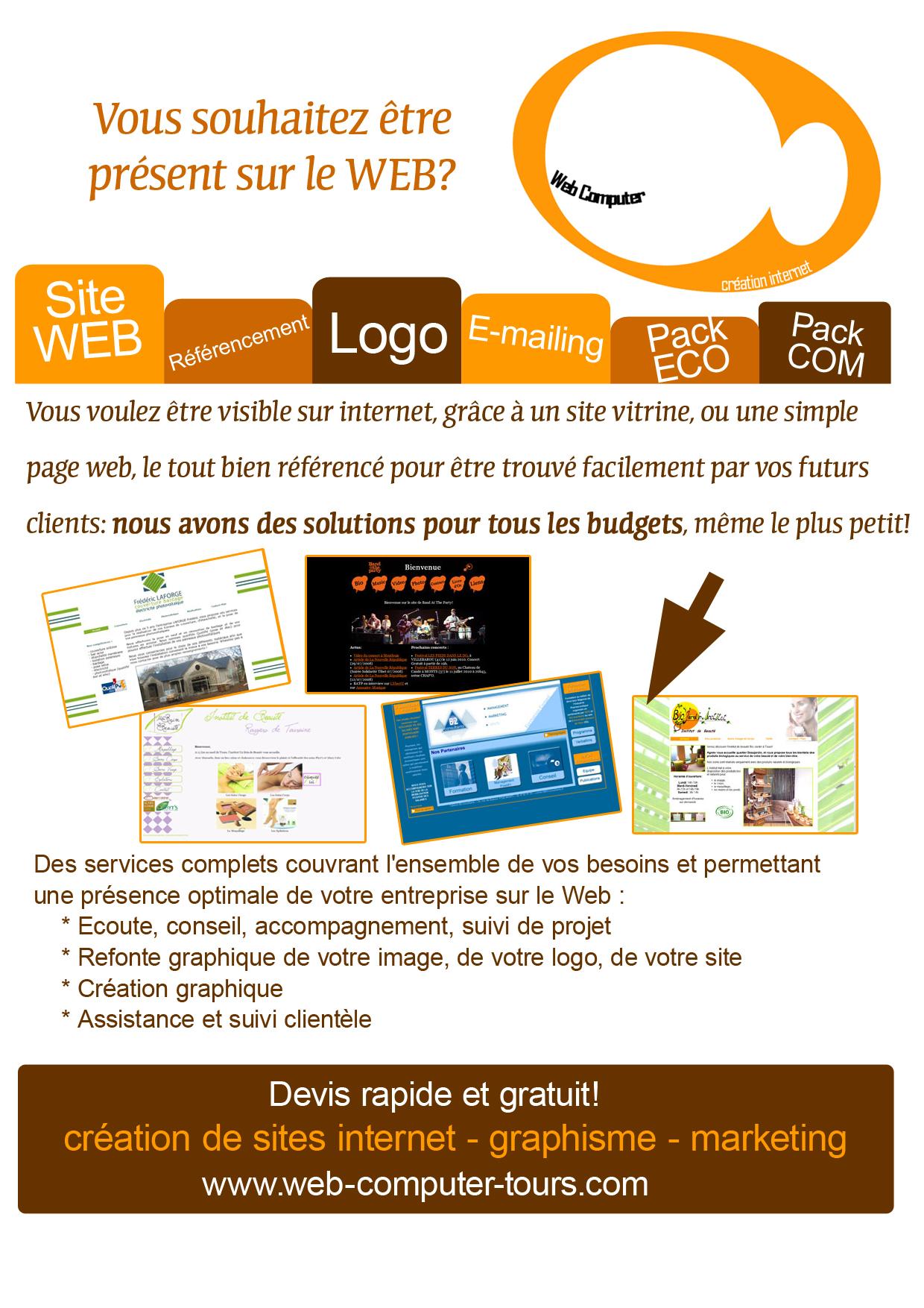 Offre Création de site internet